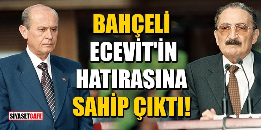Bahçeli, Ecevit'in hatırasına sahip çıktı! Livaneli'ne sert sözler