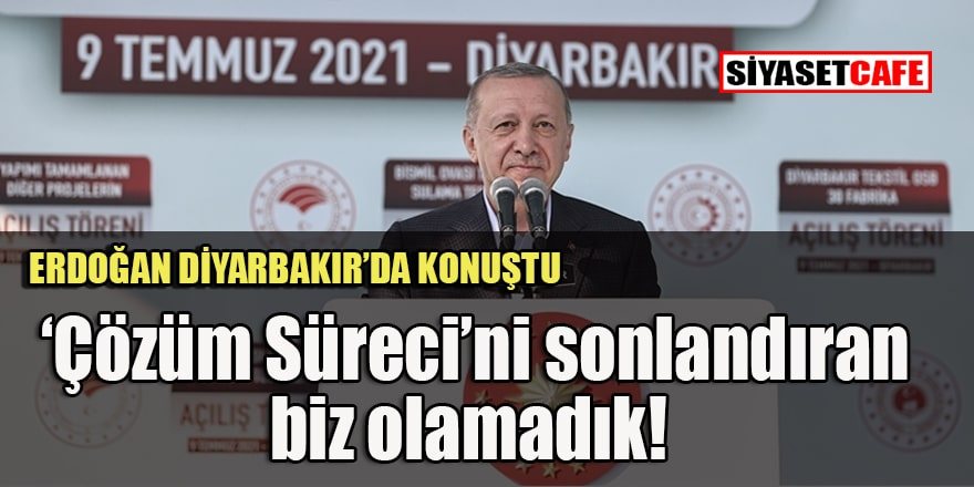 Erdoğan Diyarbakır'da 'Biji Serok Erdoğan' sloganı altında konuştu