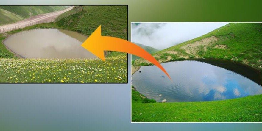 12 bin yıllık dipsiz göl 'çamur göl' oldu