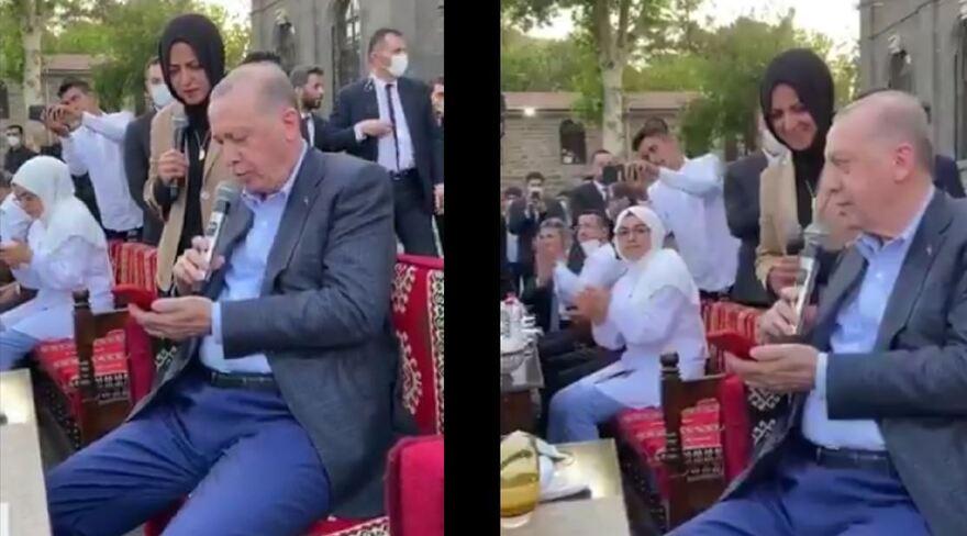 """Cumhurbaşkanı Erdoğan """"Gönül Dağı"""" türküsünü seslendirdi"""