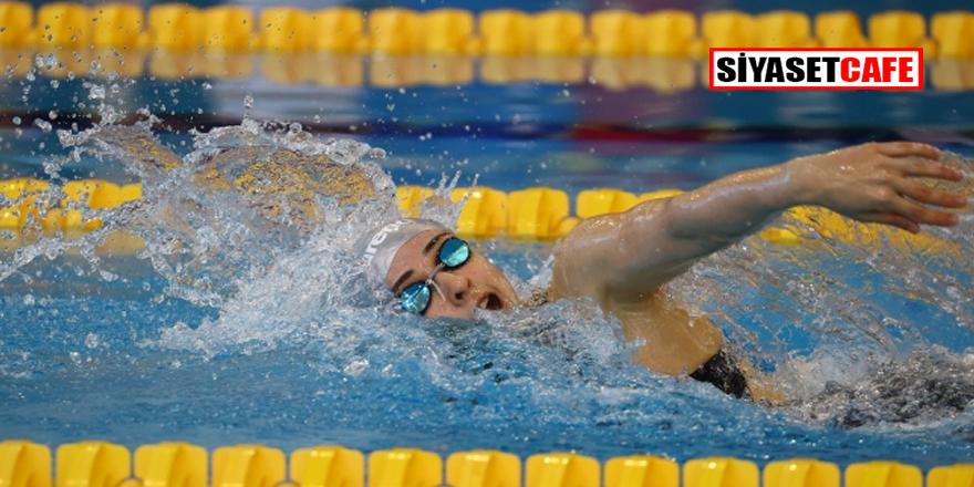 Merve Tuncel serbest stil yüzmede rekor kırarak Avrupa şampiyonu oldu