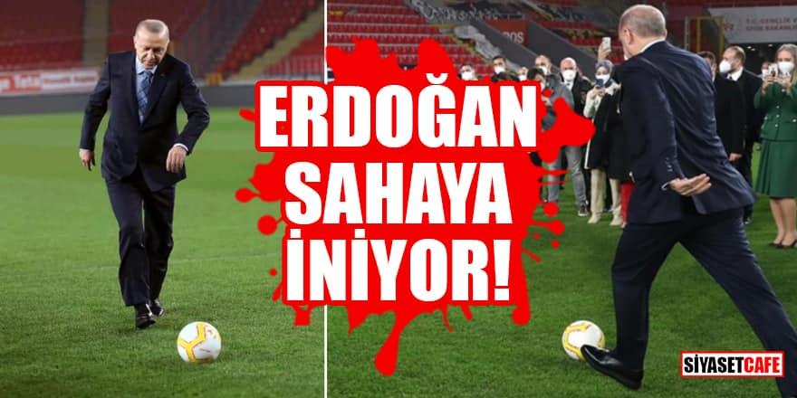 Erdoğan Kıbrıs'ta yeşil sahaya inecek!