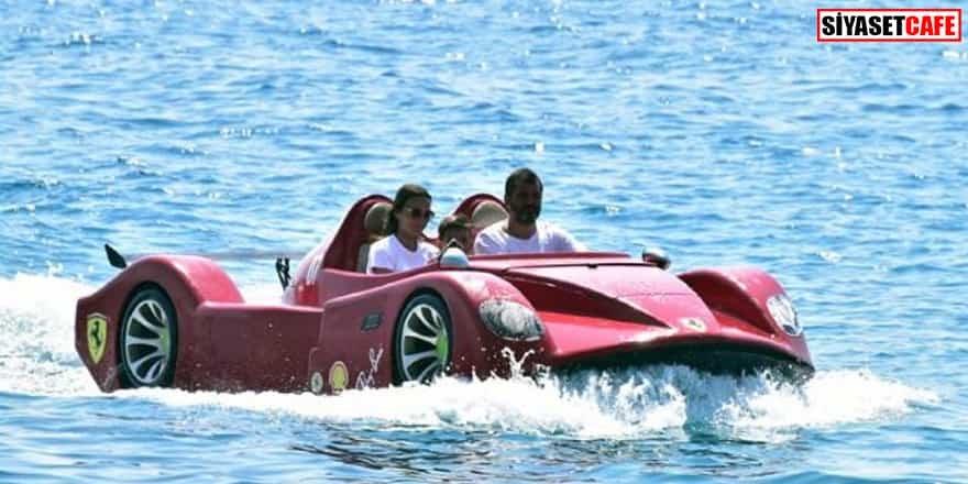 Ferrari ile denizde tur atmak tam 100 avro!