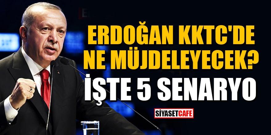 Cumhurbaşkanı Erdoğan'ın KKTC'de vereceği müjdeyle ilgili 5 senaryo!