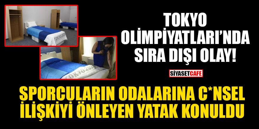 Tokyo Olimpiyatları'nda sıra dışı olay! Sporcuların odalarına c*nsel ilişkiyi önleyen yatak konuldu