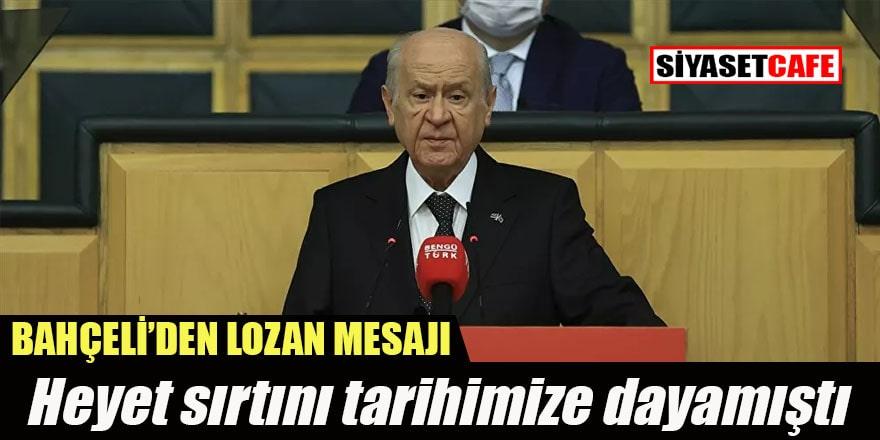 MHP lideri Bahçeli'den Lozan Antlaşması yıl dönümü mesajı