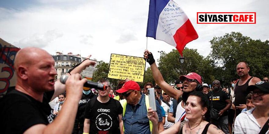 Fransa'nın 174 noktasında toplanıp Macron'u hedef aldılar!