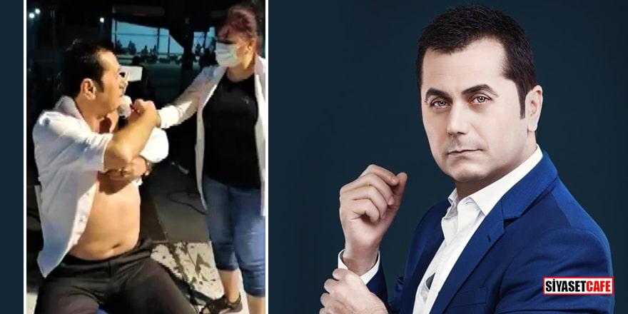 Sanatçı Hasan Yılmaz konser için çıktığı sahnede aşı oldu!