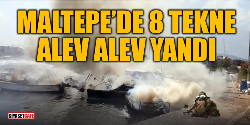 Son Dakika! Maltepe sahilde 8 tekne alev aldı