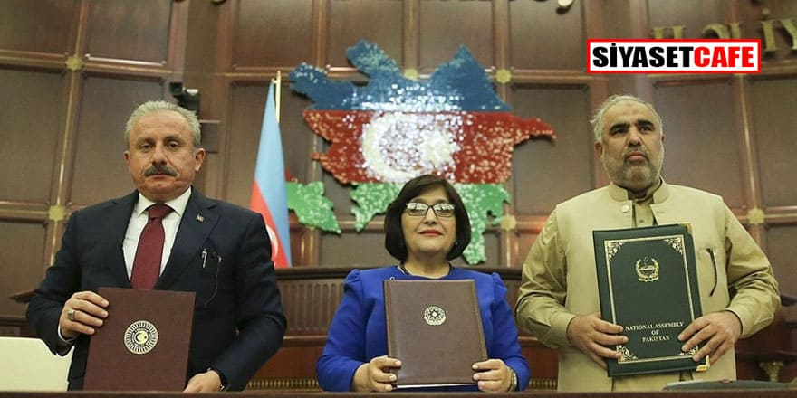 Azerbaycan-Pakistan-Türkiye parlamento başkanları Bakü Beyannamesi'ni kabul etti