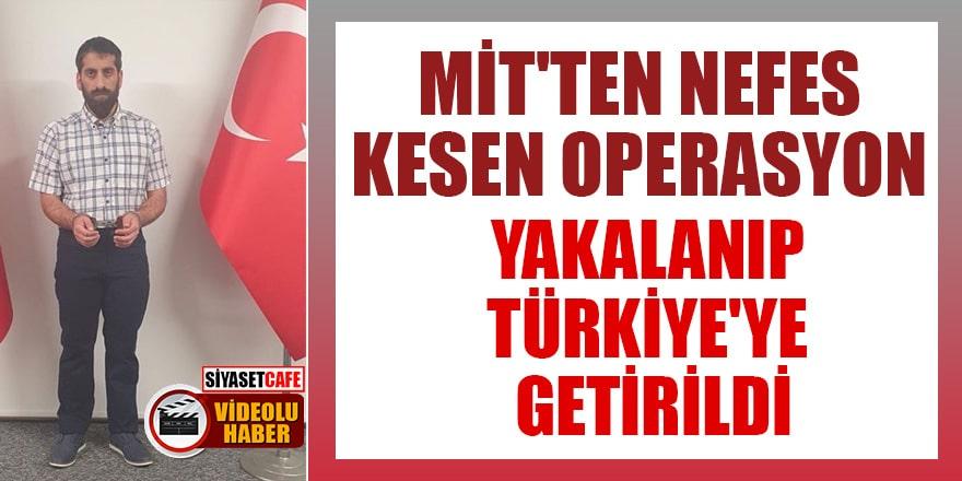 Kırmızı bültenle aranan terörist Cimşit Demir yakalanıp Türkiye'ye getirildi