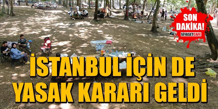 İstanbul'da ormanlık alanlara girişler 31 Ağustos'a kadar yasaklandı