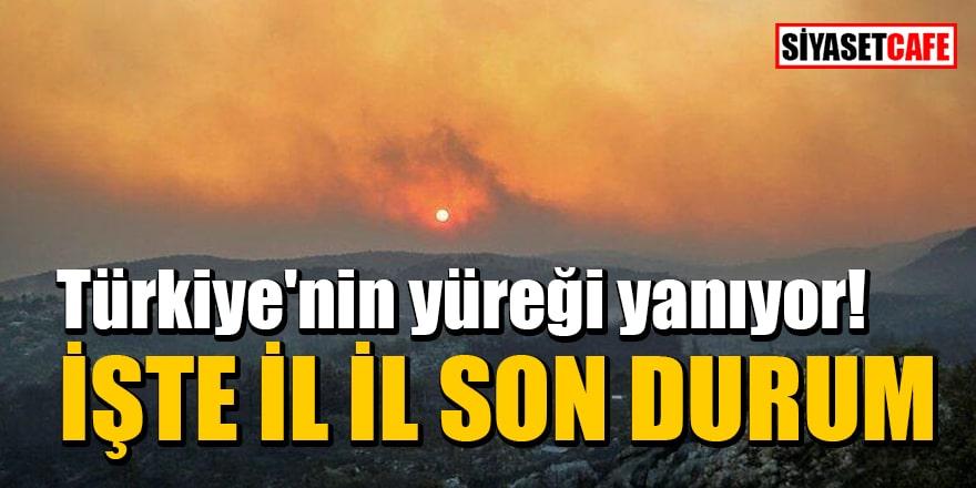 İşte il il orman yangınlarındaki son durum!