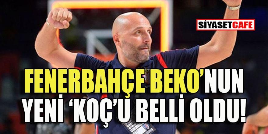 Fenerbahçe Beko'nun yeni başantrenörü Aleksandar Dordevic oldu
