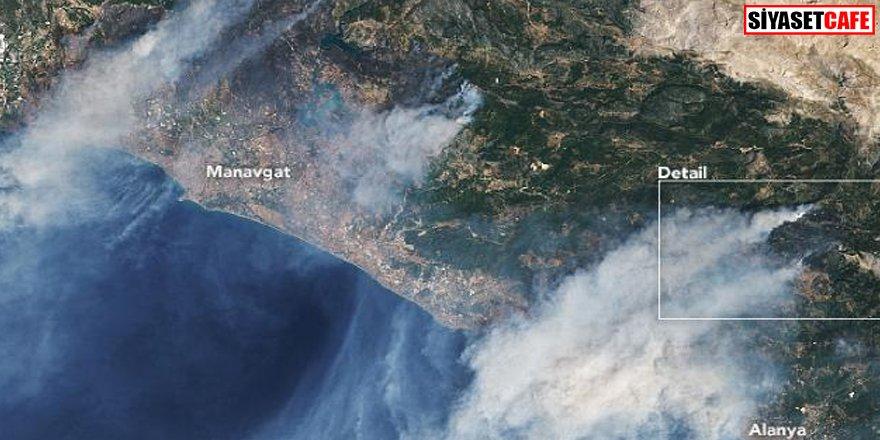 NASA Türkiye'deki yangınları görüntüledi