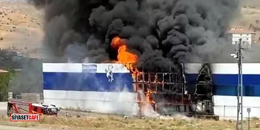 Ankara'da ayran fabrikasında yangın!