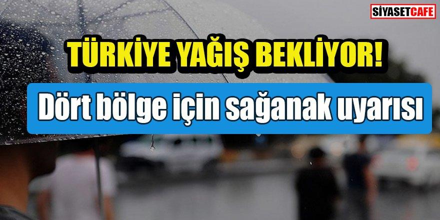 Tüm Türkiye yağmur bekliyor: Dört bölge için sağanak uyarısı