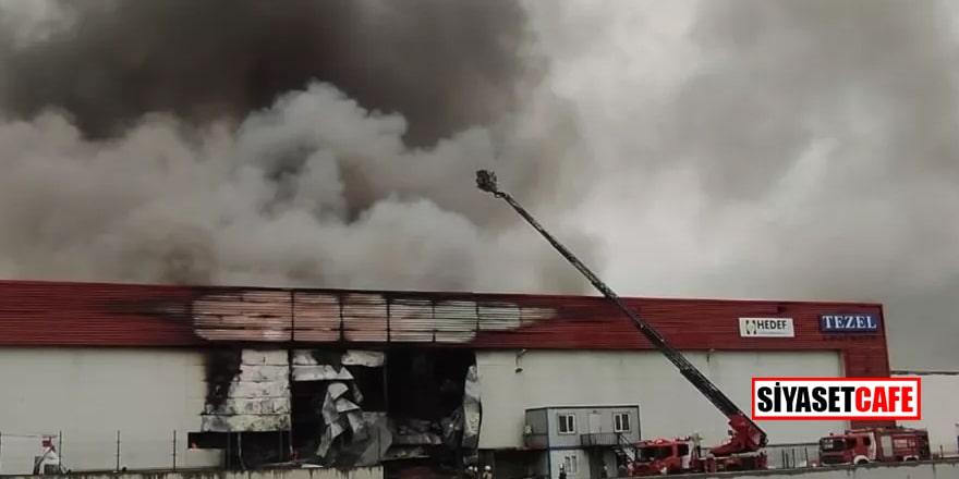 Esenyurt'ta lojistik deposunda feci yangın!
