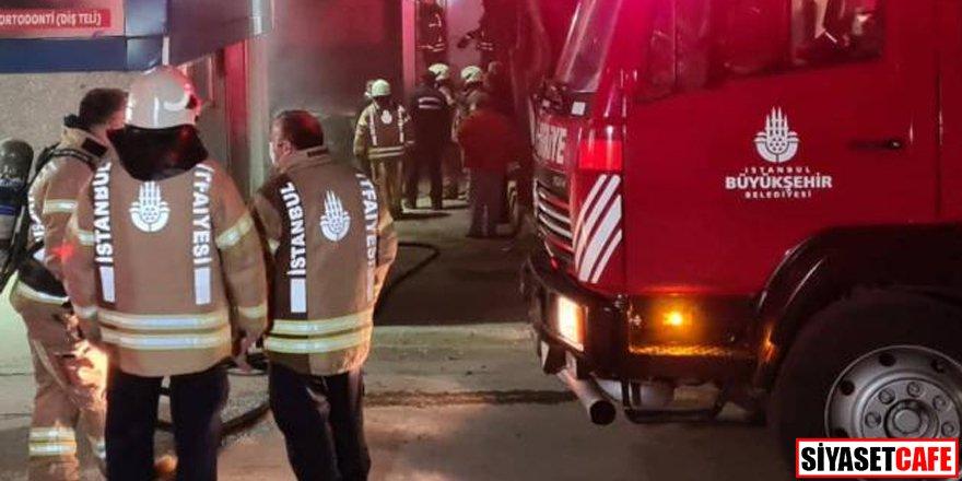 İstanbul'da bina yangını: Yaralılar var