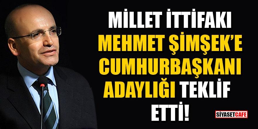 'Millet İttifakı, Mehmet Şimşek'e Cumhurbaşkanı adaylığı teklif etti' iddiası!