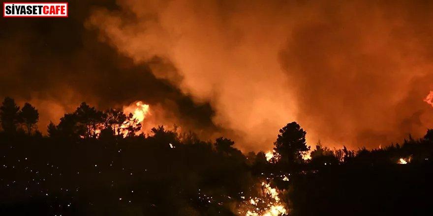 Yunanistan'da yangın söndürme çalışmalarında bir uçak düştü