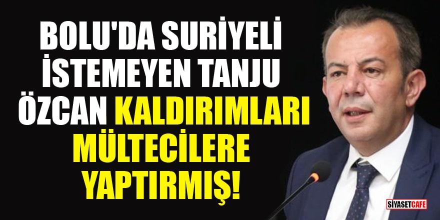 Bolu'da Suriyeli istemeyen Tanju Özcan, kaldırımları mültecilere yaptırmış!