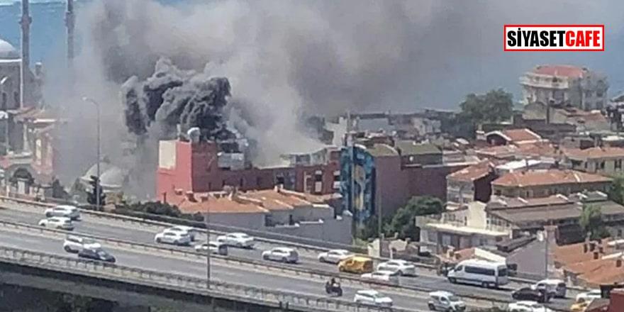 İstanbul Ortaköy'de 8 katlı otel inşaatında yangın!
