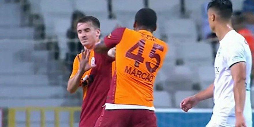 Galatasaray'da skandal! Marcao, Kerem Aktürkoğlu'na kafa atıp, yumrukladı!