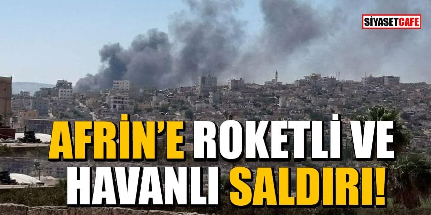 Terör örgütü PKK/YPG, Afrin'e roket ve havan ile saldırı düzenledi