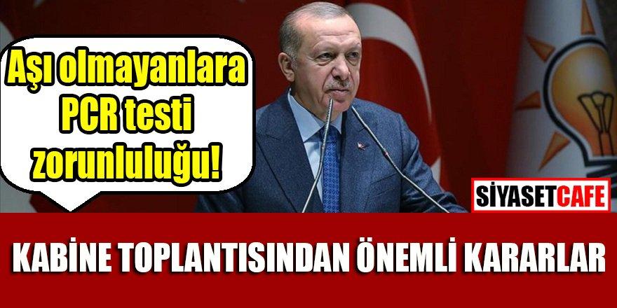 Kabine toplantısı sona erdi: Cumhurbaşkanı Erdoğan önemli kararları duyurdu