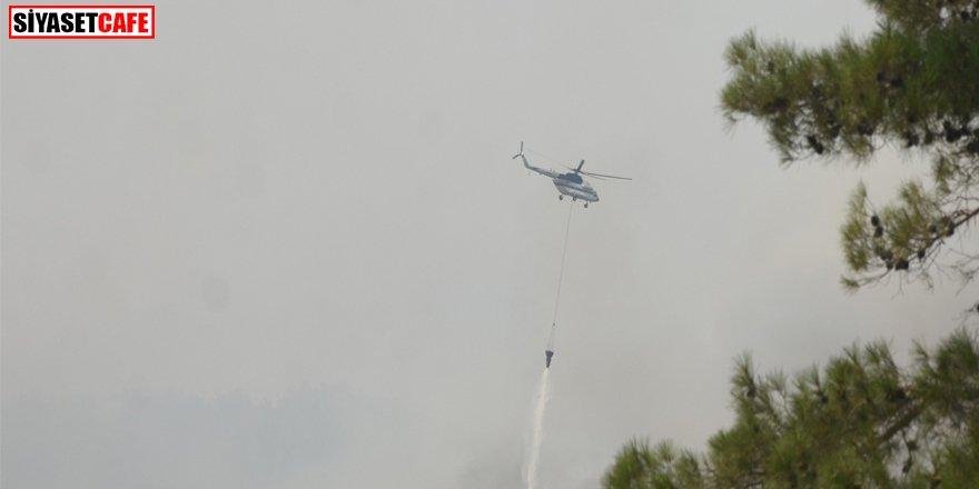 Muğla'da yangın yeniden başladı: Havadan müdahale ediliyor