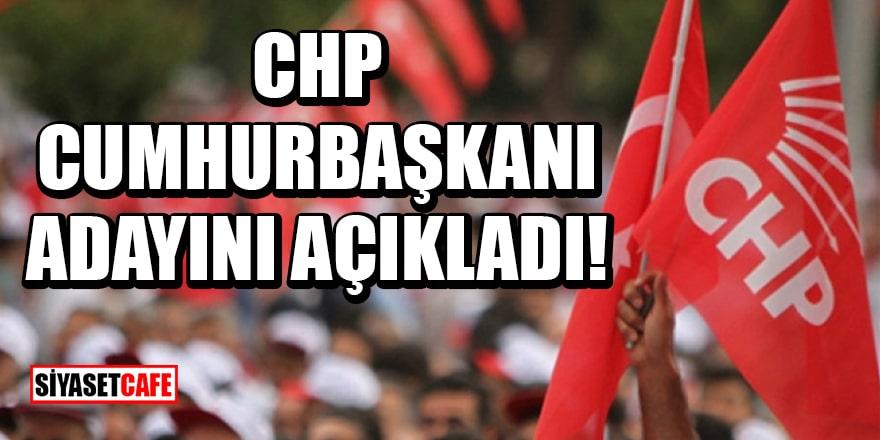 CHP Genel Başkan Yardımcısı, CHP'nin cumhurbaşkanı adayını duyurdu