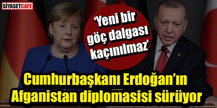 Diplomasi trafiği sürüyor: Cumhurbaşkanı Erdoğan Merkel ile görüştü