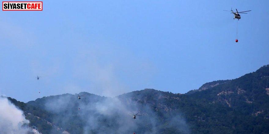 Kazdağları'nda orman yangını: 12 helikopter müdahale ediyor