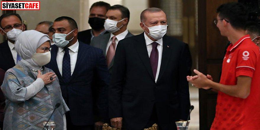 Erdoğan milli sporcularla bir araya geldi