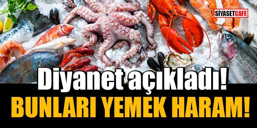 Yengeç, kalamar, ıstakoz, karides, midye, kurbağa vb. gibi deniz ürünleri yemek haram mı?