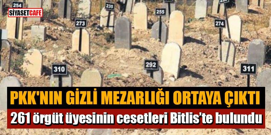 PKK'nın gizli mezarlığı ortaya çıktı! 261 örgüt üyesinin cesetleri Bitlis'te bulundu