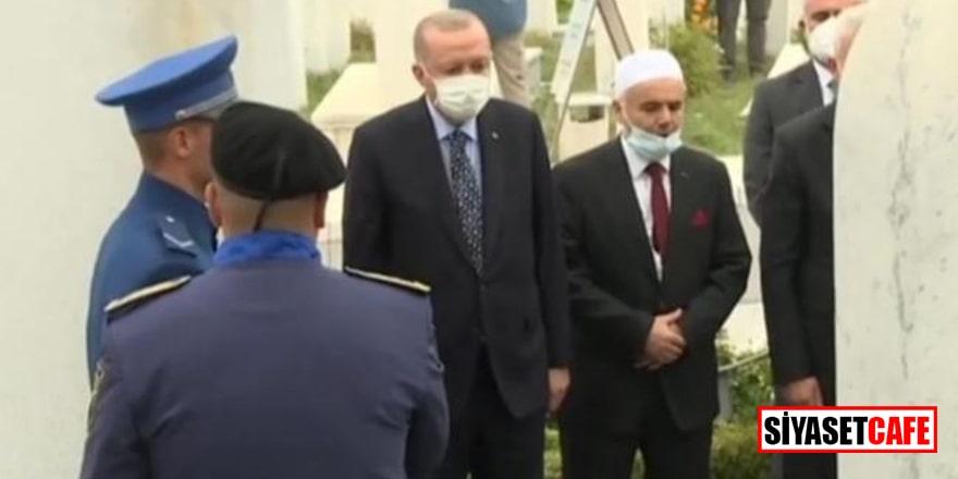 Erdoğan, İzzetbegoviç'in kabrini ziyaret etti!