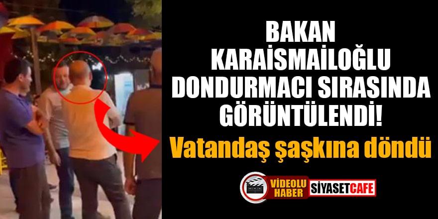 Bakan Karaismailoğlu, dondurmacı sırasında görüntülendi! Vatandaş şaşkına döndü