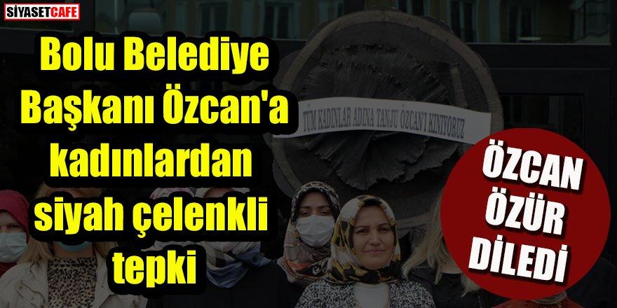 Tanju Özcan'a kadınlardan siyah çelenkli tepki