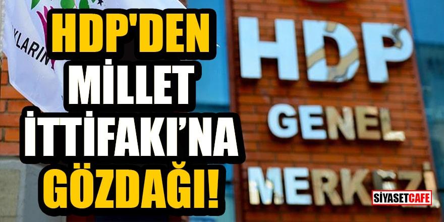 HDP'den Millet İttifakı'na gözdağı!