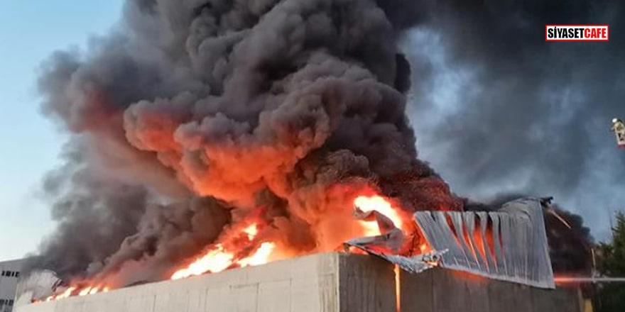 İstanbul'da plastik fabrikasında yangın!