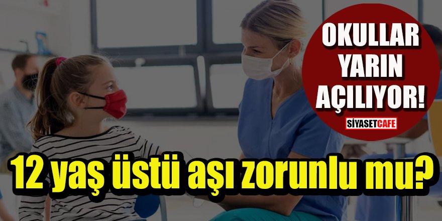 Bakan Koca duyurdu: 12 yaş üstü aşı zorunlu mu?