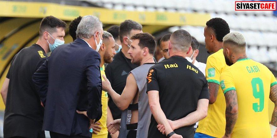 Tarihi olay: Brezilya - Arjantin maçı yarıda kaldı
