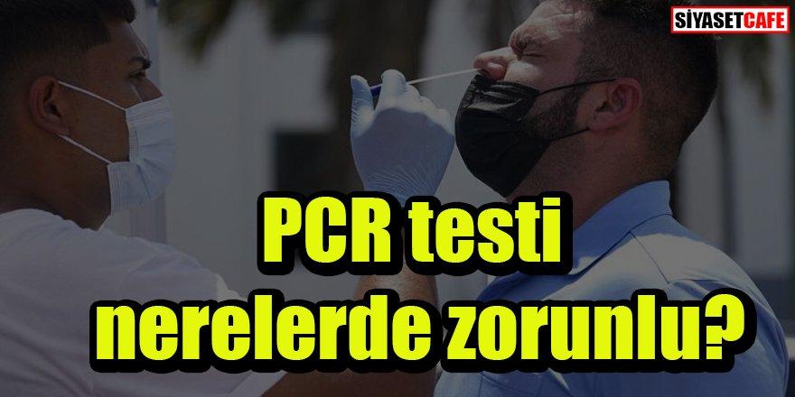 PCR testi nerelerde zorunlu?