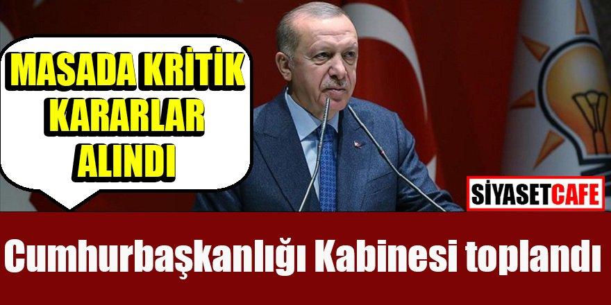 Erdoğan Cumhurbaşkanlığı Kabinesi sonrası açıklamalarda bulundu