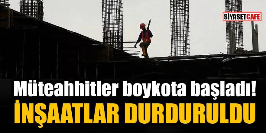 Müteahhitler artan çimento fiyatları nedeniyle boykota başladı: İnşaatlar 24 Eylül'e kadar durduruldu