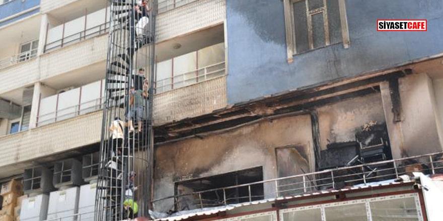 Muş'ta özel eğitim kursunda yangın çıktı! 15 kişi hastanelik oldu
