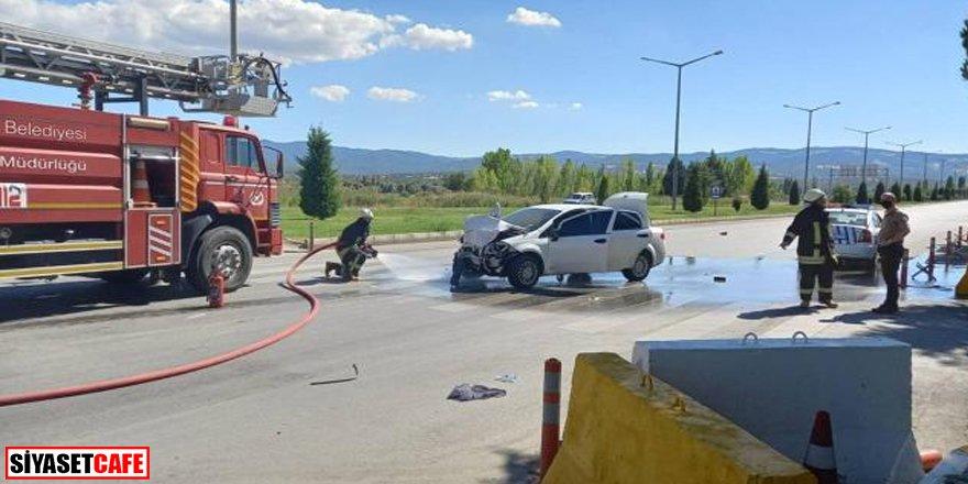 Kütahya'da trafik kazası: 2'si polis 5 yaralı