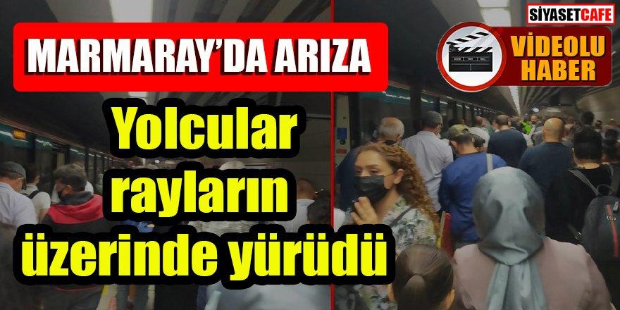 Marmaray'da arıza: Yolcular rayların üzerinde yürüdü